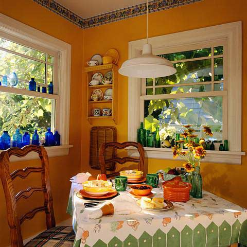 Decorating secrets country dining rooms for Kitchen room decoration